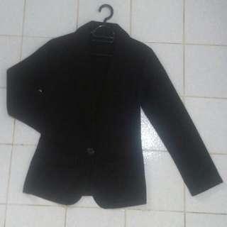 Black Blazer Non Lining