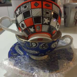 T2 Tea Cups And Saucers