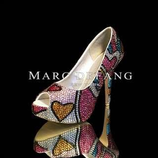 Swarovski Crystal Heels by MARC DEFANG - Size 39