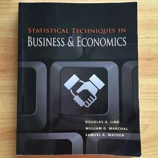 Statistical Technique In Business & Economics
