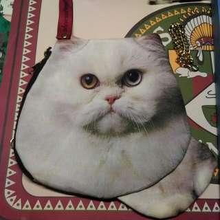 (郵寄含運)超逼真貓咪手拿包