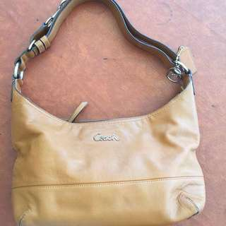 Coach Two-way Leather Body Bag