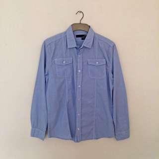 Cotton On Men's Shirt Light Blue Denim