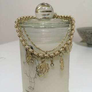 玫瑰雙繩手鍊&彩色串珠