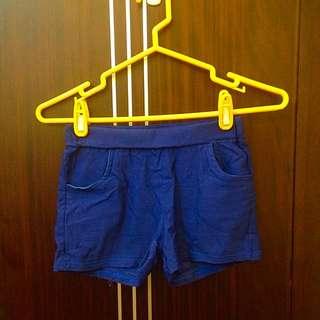 超彈性😚寶藍色貼身短褲