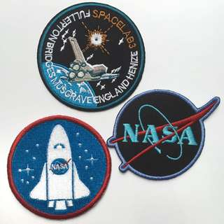🚀 NASA and Space Iron On Patches