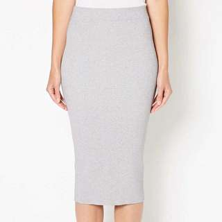 Witchery Grey Ribbed Tube Skirt NEW w/ Tags!