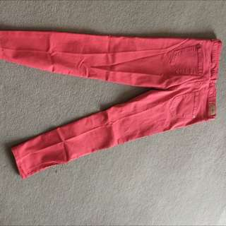 Zara Red Skinny Jeans