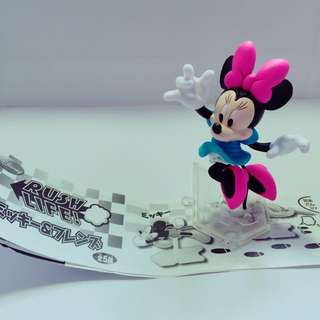 奔跑 米妮 絕版扭蛋迪士尼