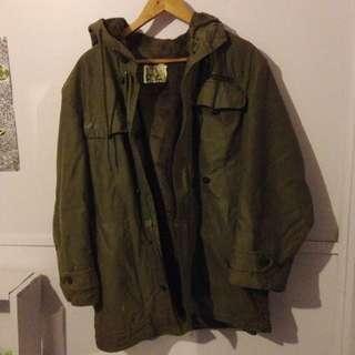 Unisex Olive Military Jacket