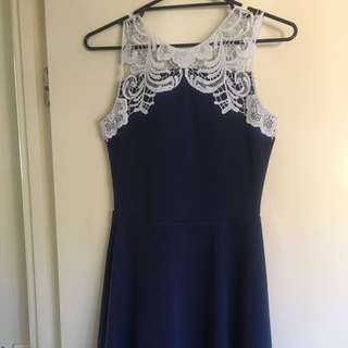Blue Lace Dress From Valleygirl