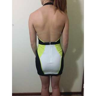 Backless Halter Midi Dress