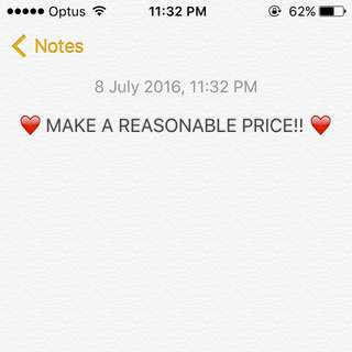 Make A Reasonable Price On All Items Listed