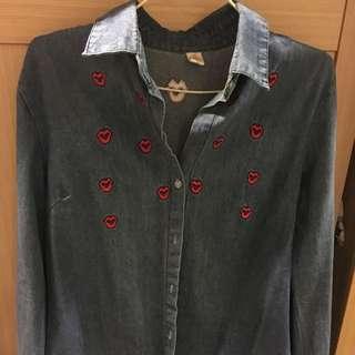 牛仔襯衫(可當外套