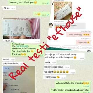 Real Testi + Bukti Transferan No Tipu Tipu Y Dear.. Thank You For Shopping Darling...😘😘😘
