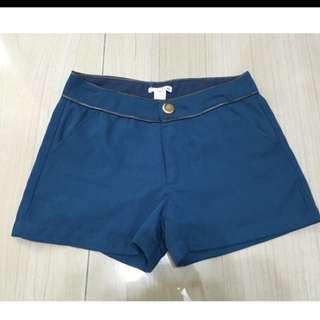 50%藍綠色雪紡短褲