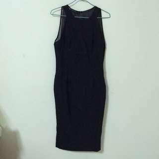 🚚 ZARA全黑後背薄紗洋裝