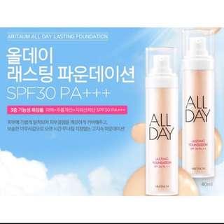 Catie推薦😊名額只剩3瓶預購❤️韓國Aritaum All Day 持久型粉底液✨預購到明天中午12:00❤️