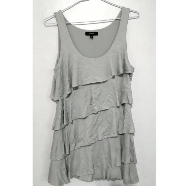 銀色小洋裝