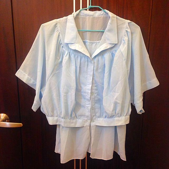 夏天必備☀️清涼雪紡襯衫