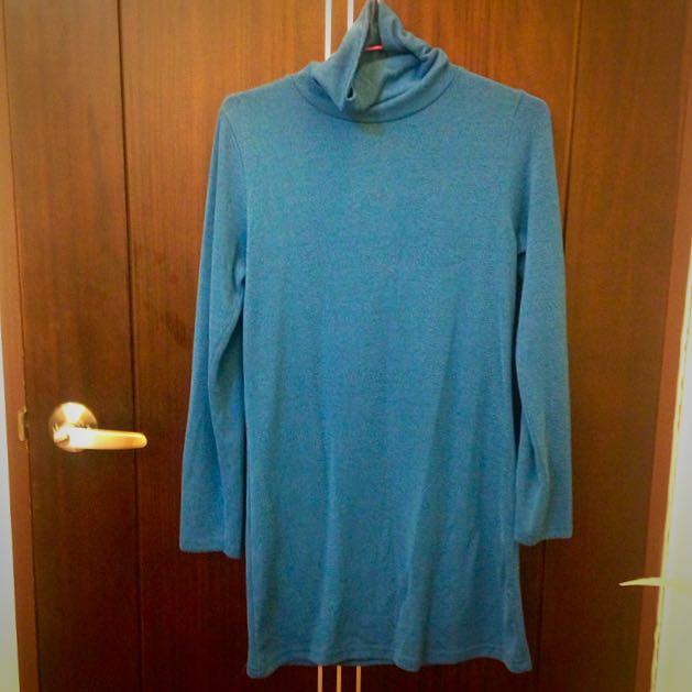 冬天限定⛄️藍色高領長袖衫