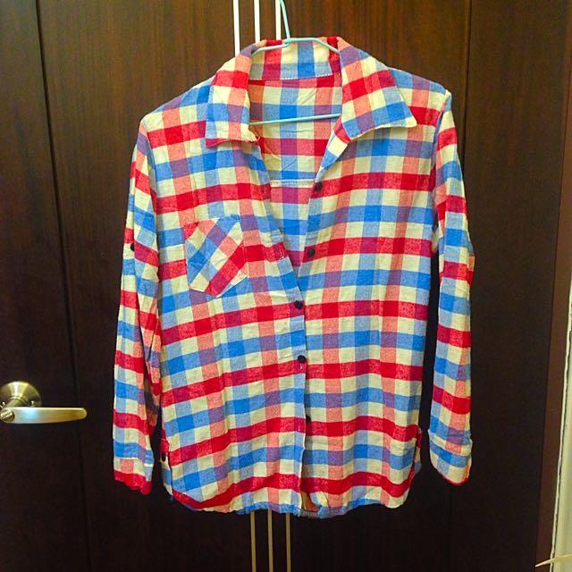 秋冬款✨厚絨質料格子衫