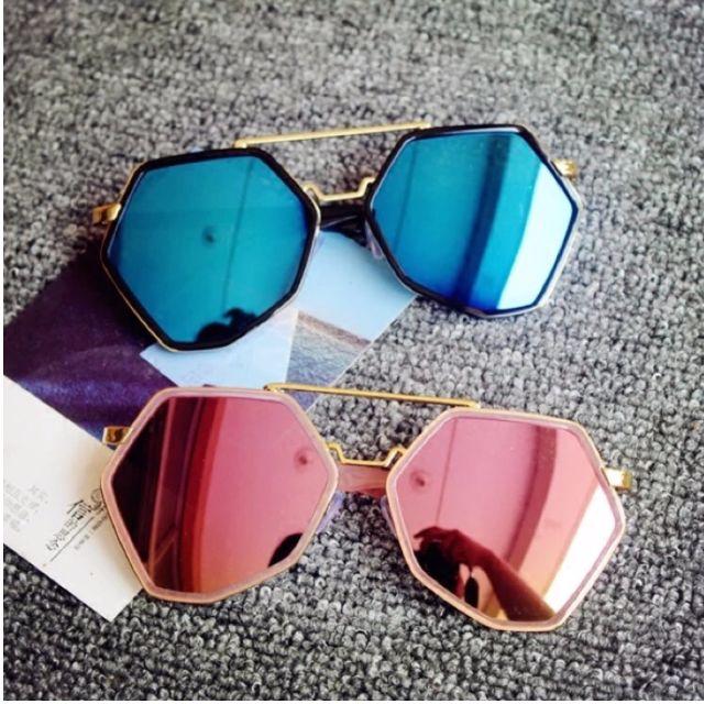 炫彩多邊形太陽眼鏡