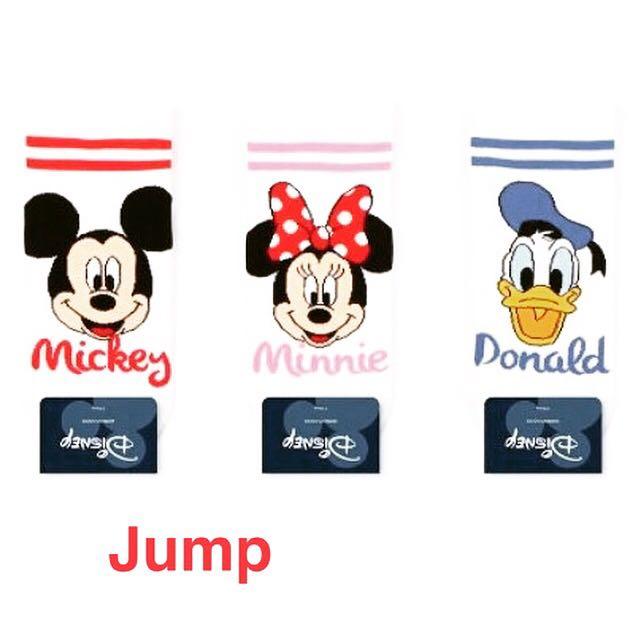 韓國 迪士尼條紋系列短襪