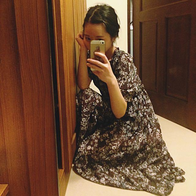 復古 韓國 古著 洋裝 長裙 氣質 必備