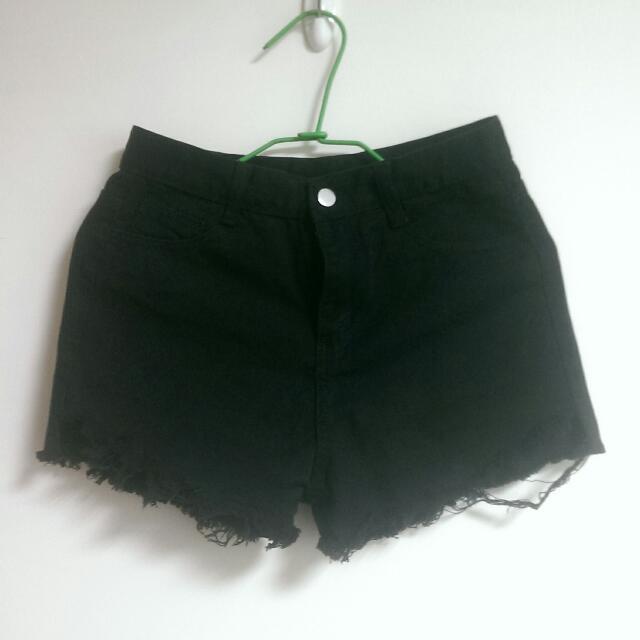 黑色短褲 黑褲 L,M