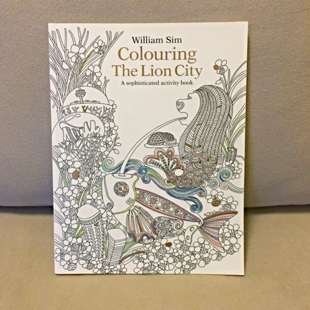Adult Colouring Book Singapore Edition Design Craft On Carousell