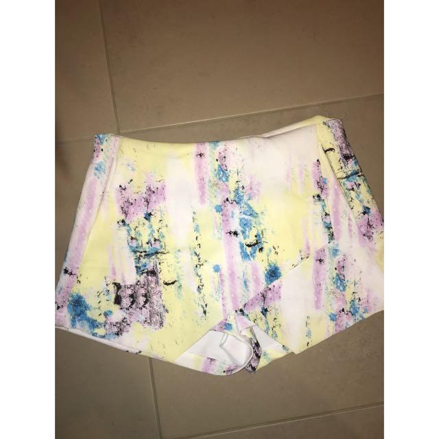 Asymmetrical skirt/shorts