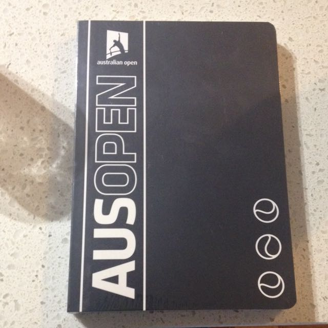 Australian Open Note Book Originally 20$