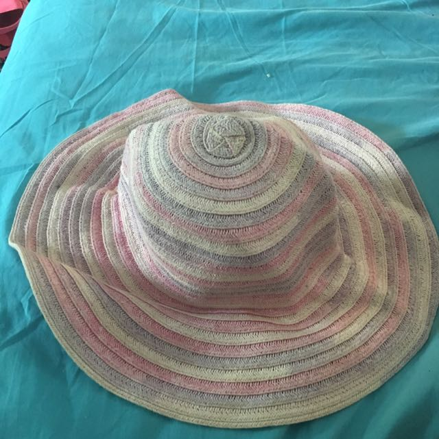 Baby Pink And Purple Sun Hat
