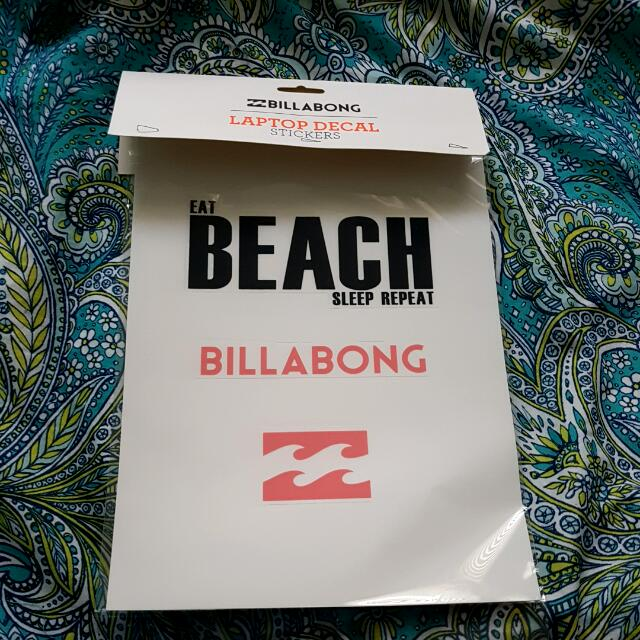 Billabong Laptop/ipad/tablet Decals Brand New!