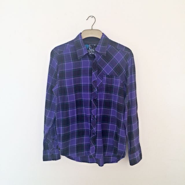 Black Purple Men's Shirt
