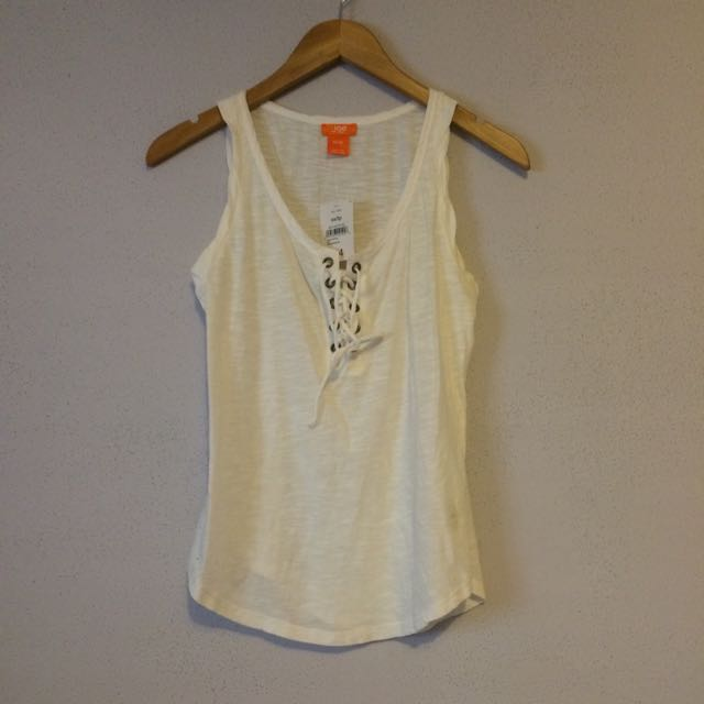BNWT Joe Fresh Lace Up Tank (XS)