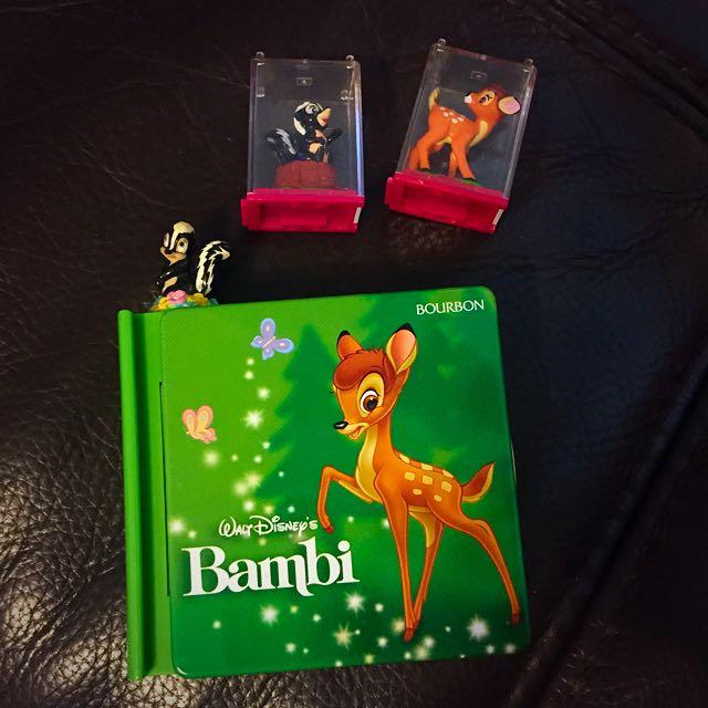 Bourbon 迪士尼 小鹿斑比 糖果盒 送小櫥窗扭蛋