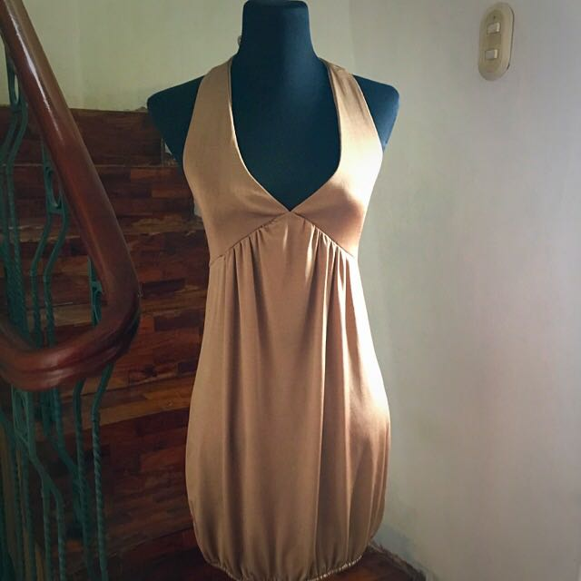 Bronze Backless Party Dress from YRYS