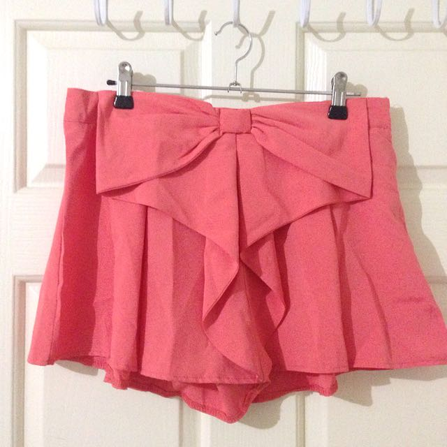 Burans Fashion Coral Skort With Bow