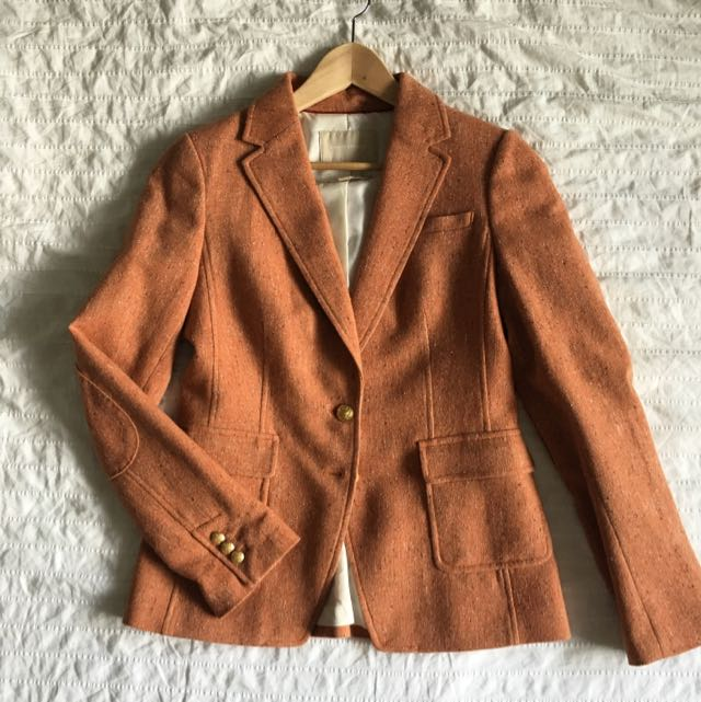 Burnt Orange Wool Blazer