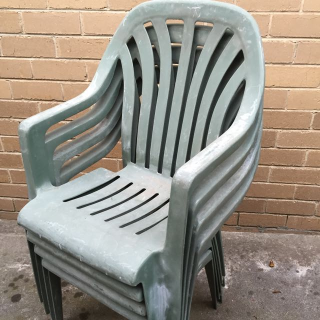 Crappy Old Green Plastic Chairs