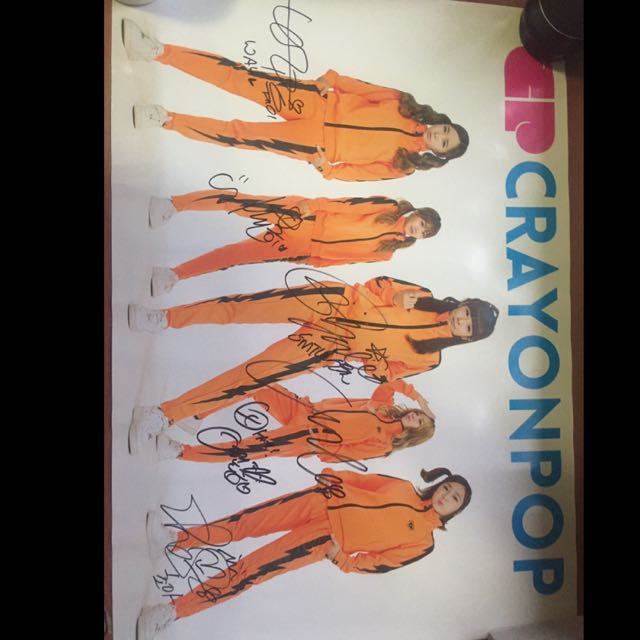 Crayon Pop Signed Poster
