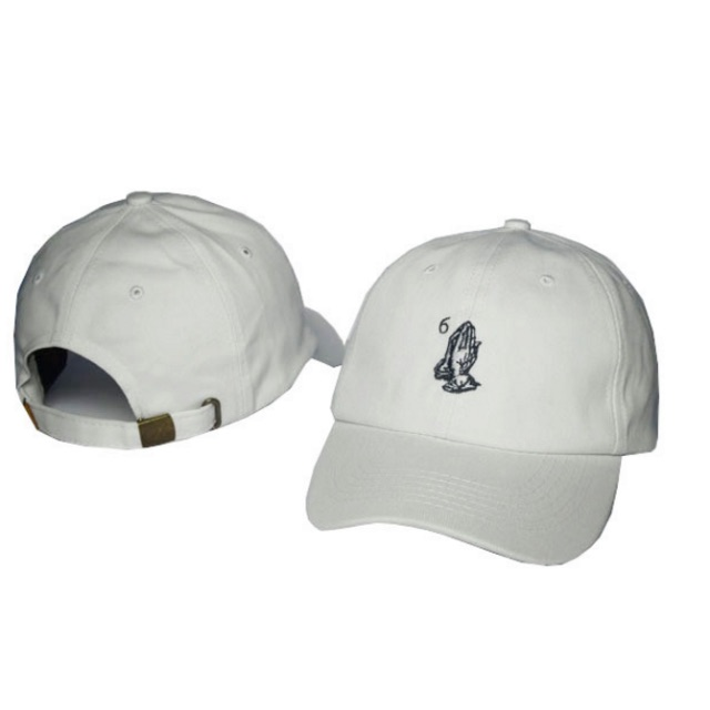 Drake 6 God cap white & black logo / adjustable fit