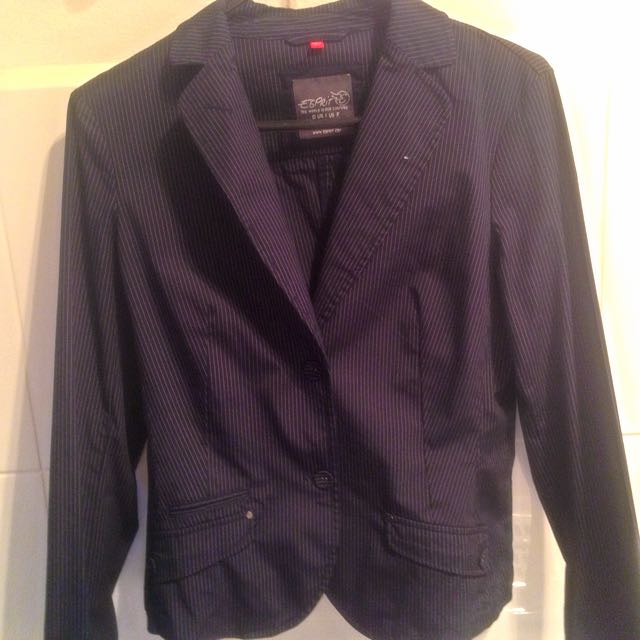 Esprit Classic Pinstripe Work Jacket
