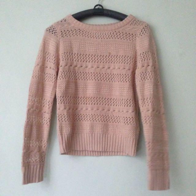 F21 Blush Sweater