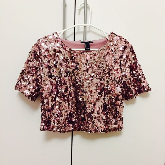 Forever 21 Size 8 Sequin Top