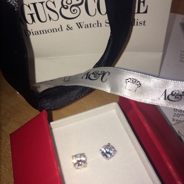 Genuine Angus&Coote Diamond Earrings