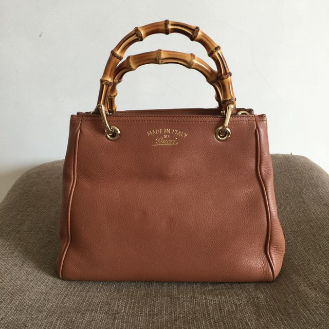807f4fb069 Preloved Gucci Bamboo Shopper Leather Mini Bag, Luxury, Bags ...
