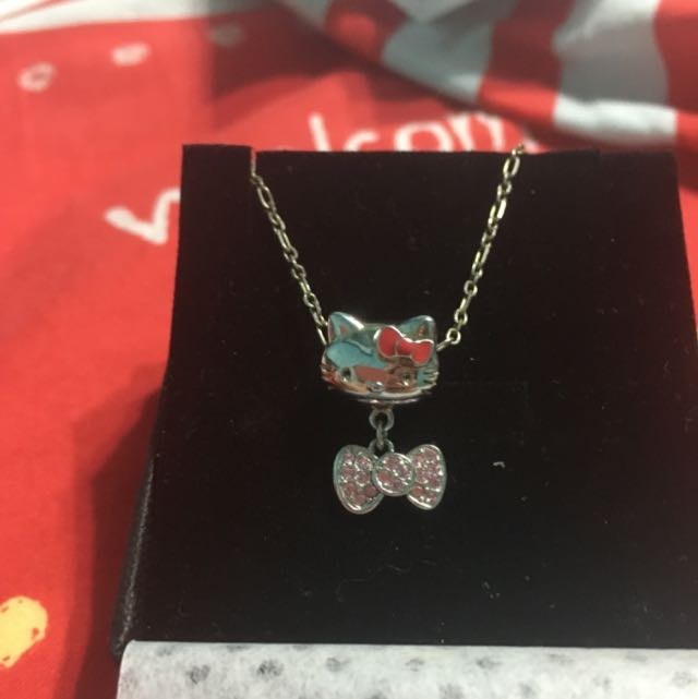 Hello Kitty  925純銀項鍊 Mia Jewelry